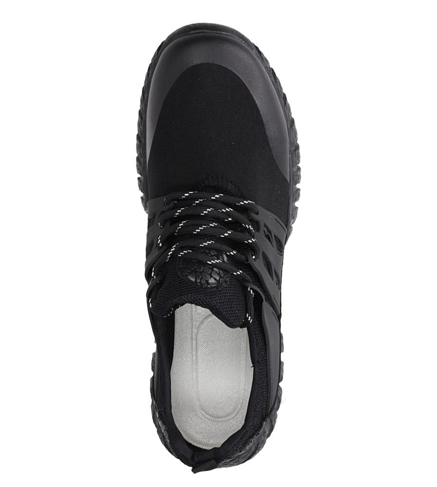 Czarne buty sportowe sznurowane Casu 9120 wys_calkowita_buta 14 cm