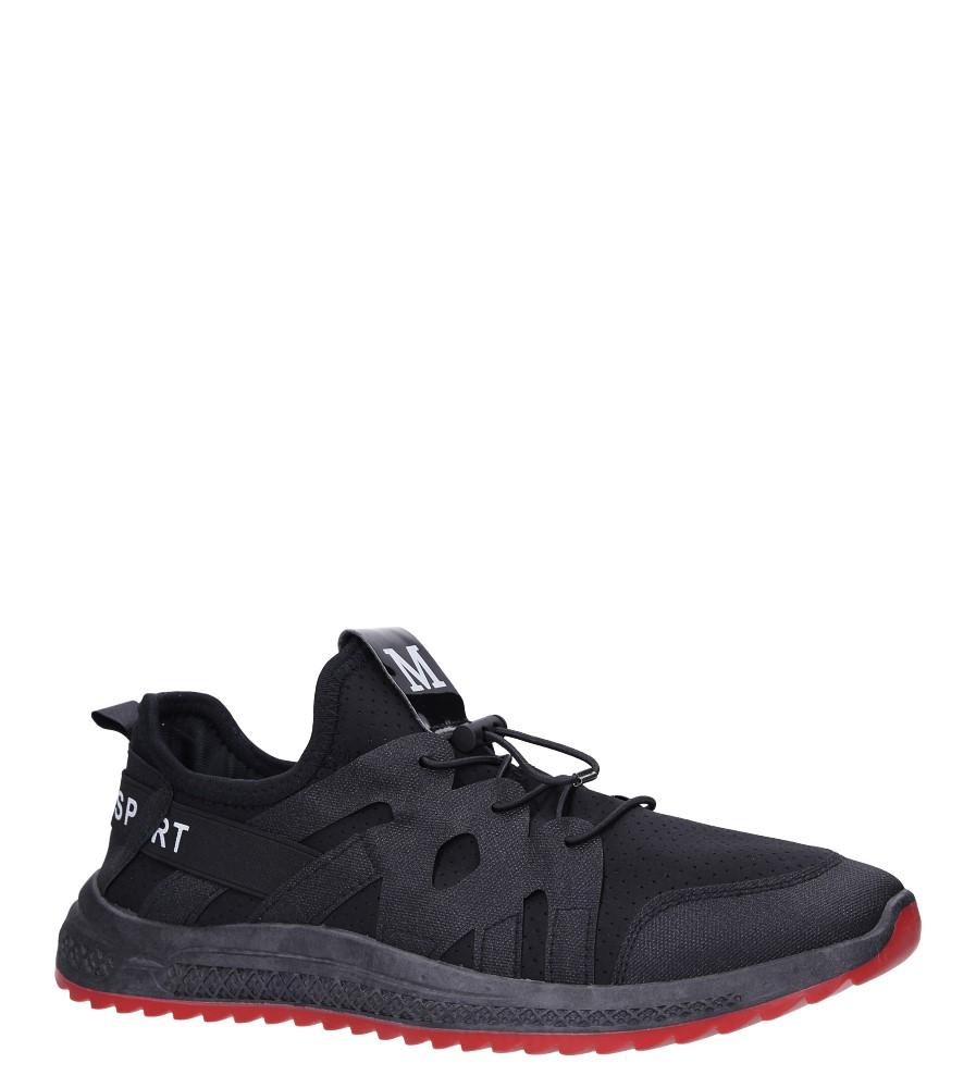Czarne buty sportowe sznurowane Casu 988