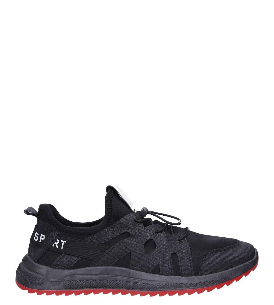 Czarne buty sportowe sznurowane Casu 988 model 988