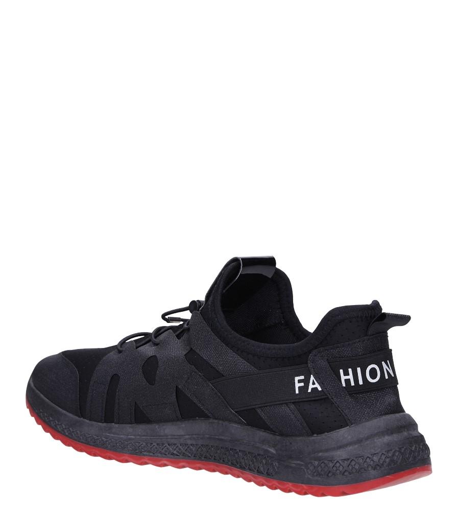 Czarne buty sportowe sznurowane Casu 988 sezon Całoroczny