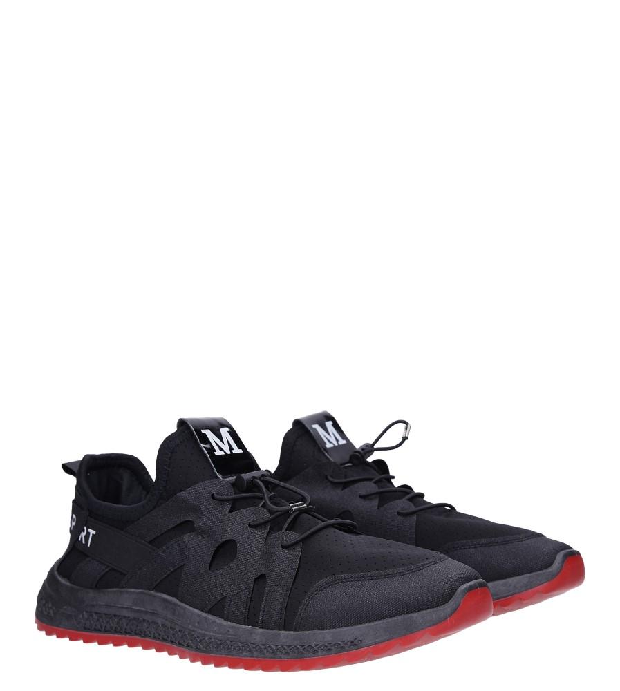 Czarne buty sportowe sznurowane Casu 988 kolor czarny