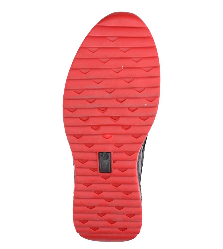 Czarne buty sportowe sznurowane Casu 988 wierzch materiał/skóra ekologiczna