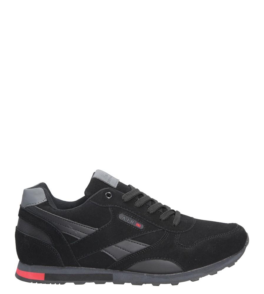 Czarne buty sportowe sznurowane Casu 9ACH-17300