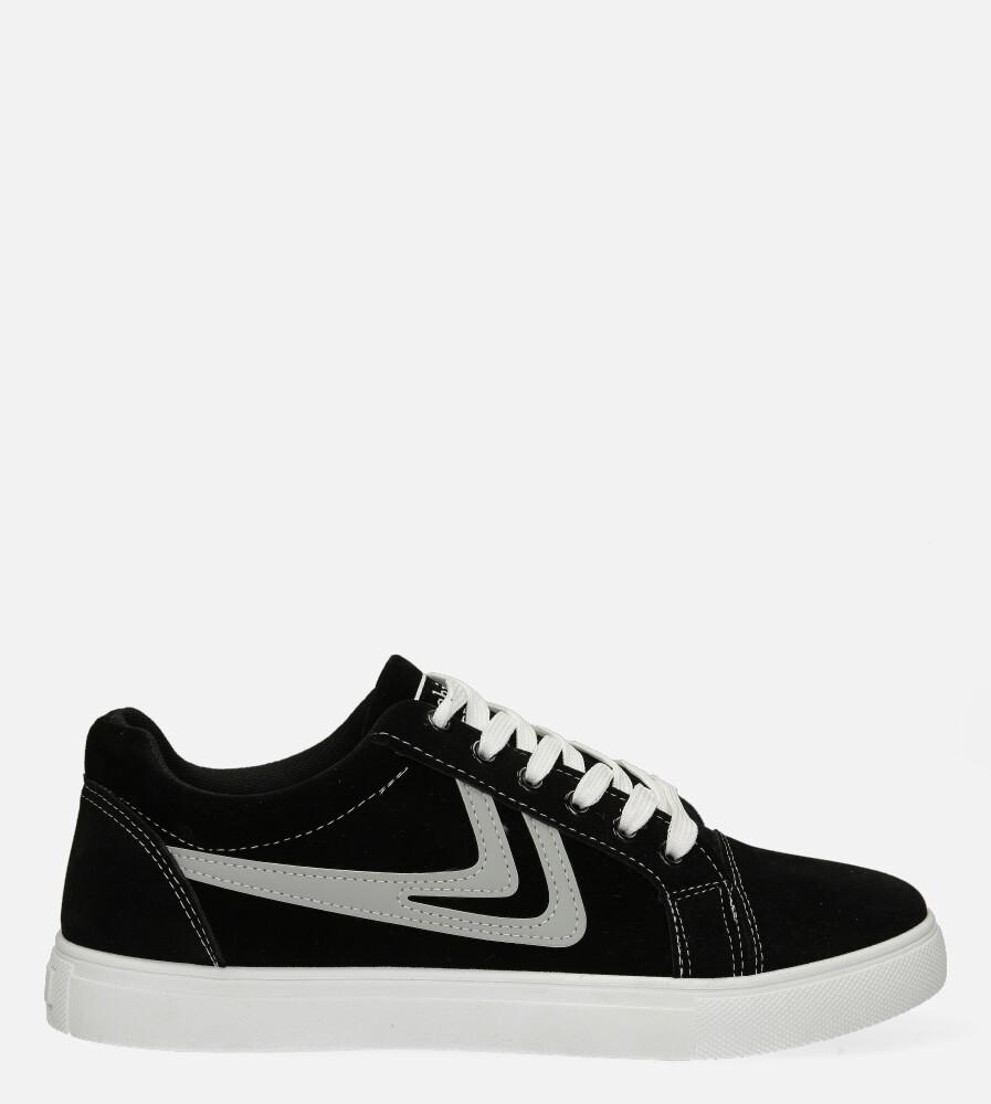 Czarne buty sportowe sznurowane Casu A-22 czarny