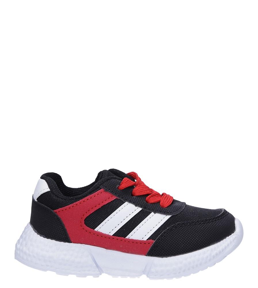 Czarne buty sportowe sznurowane Casu A-9
