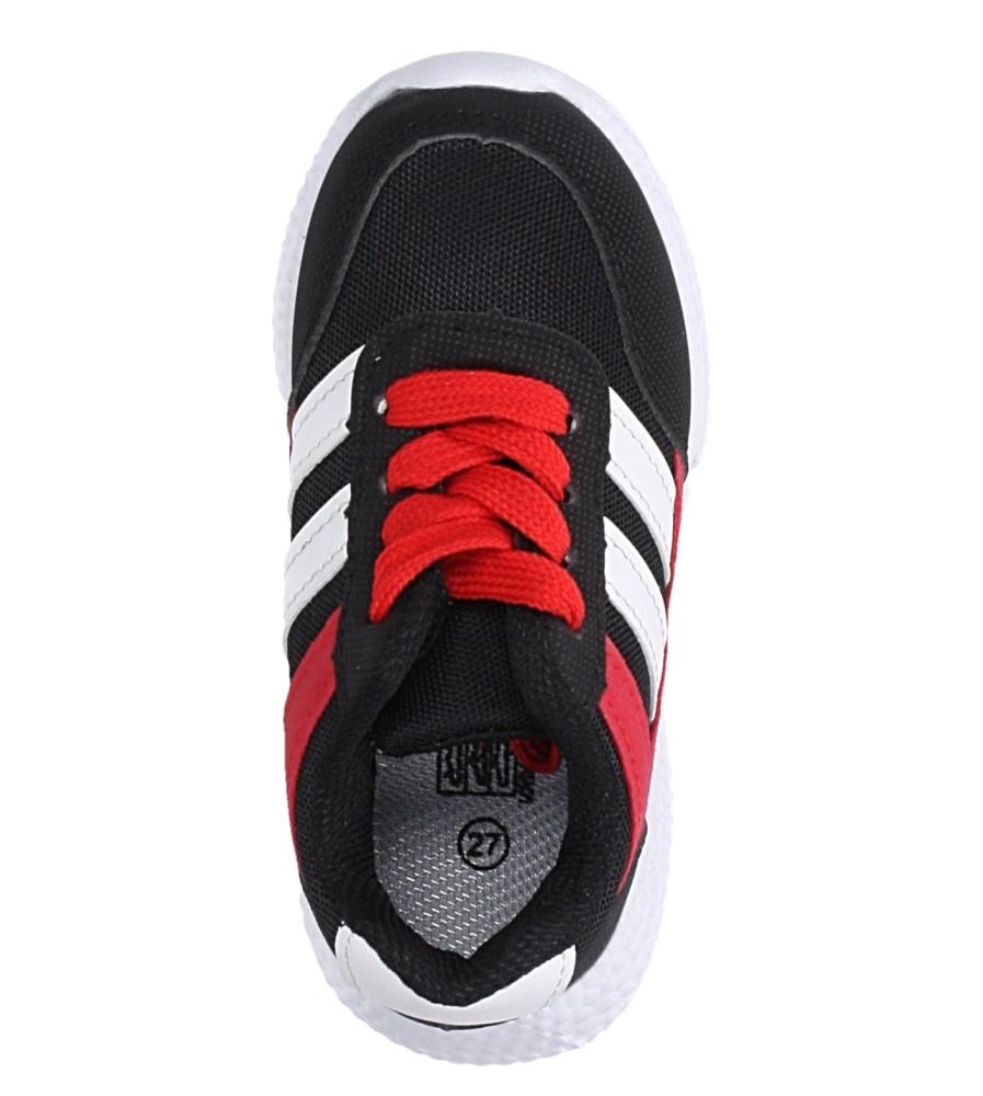 Czarne buty sportowe sznurowane Casu A-9 kolor czarny