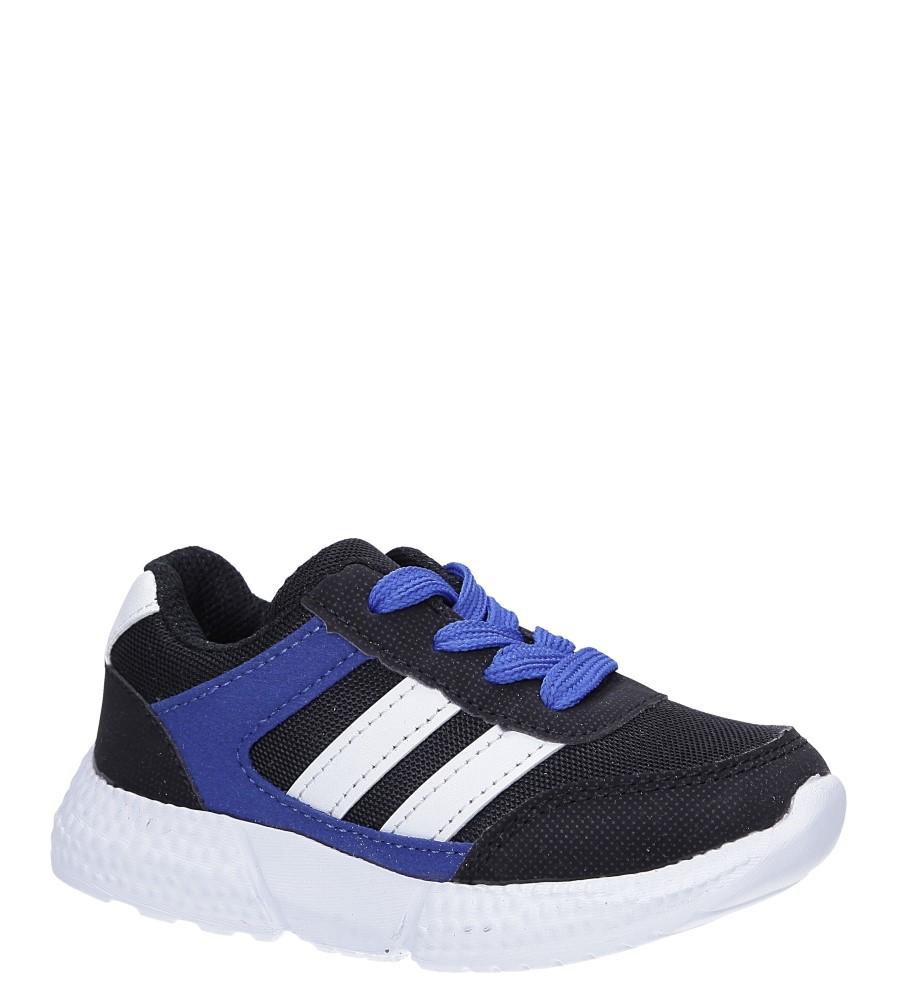 Czarne buty sportowe sznurowane Casu A-9 czarny