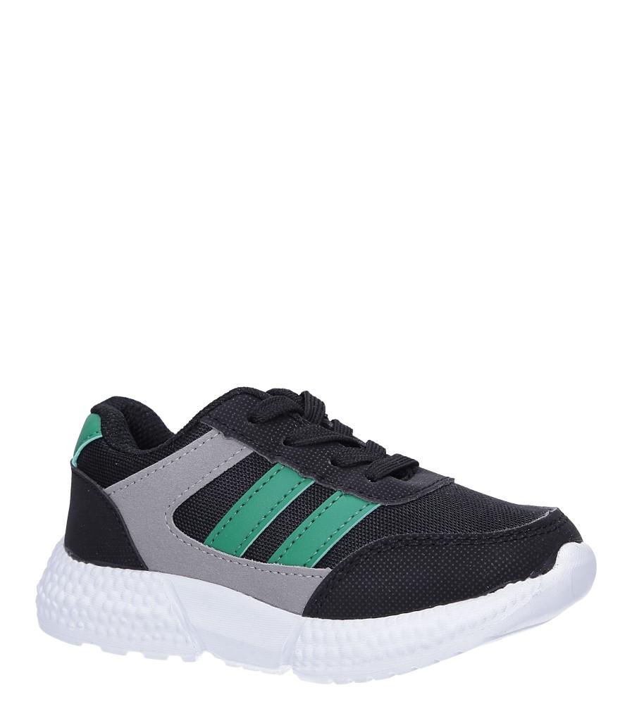 Czarne buty sportowe sznurowane Casu A-9 producent Casu
