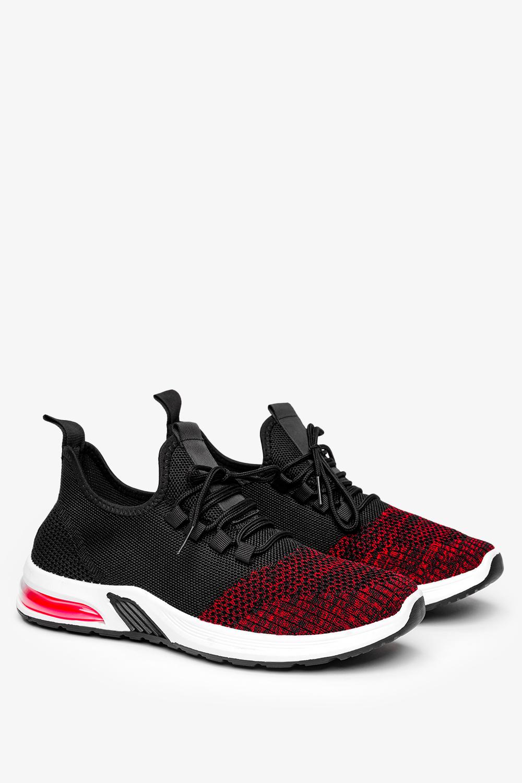 Czarne buty sportowe sznurowane Casu A15-1