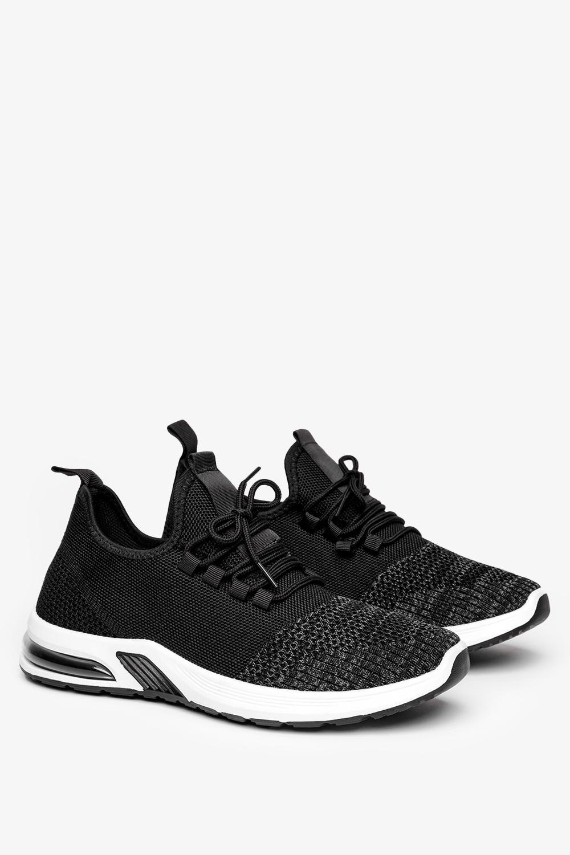 Czarne buty sportowe sznurowane Casu A15-2