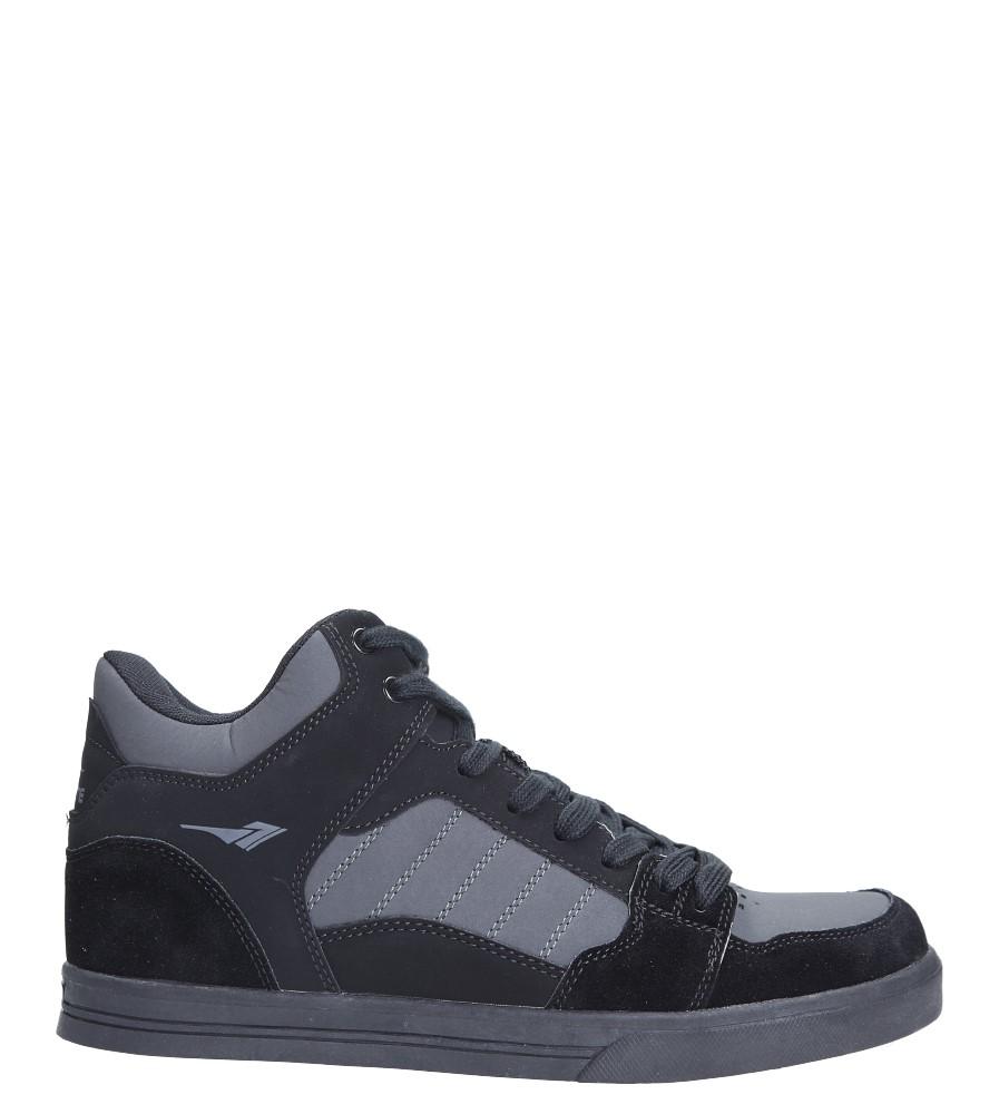 Czarne buty sportowe sznurowane Casu A2278-2