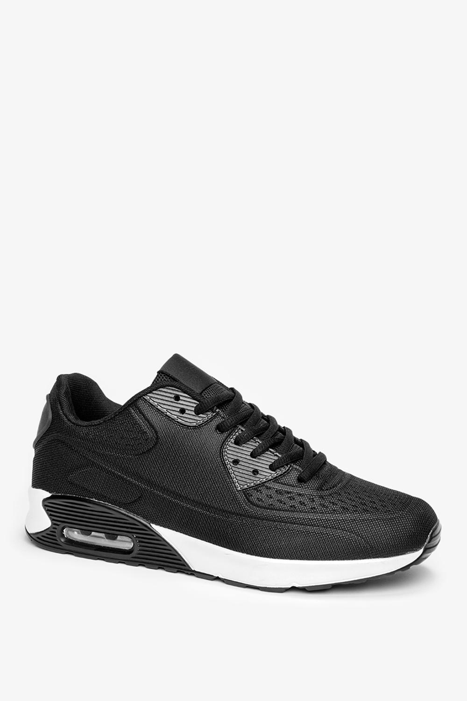 Czarne buty sportowe sznurowane Casu A3363-1 czarny