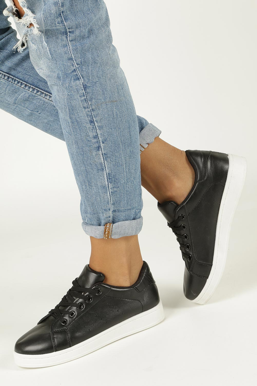 Czarne buty sportowe sznurowane Casu A507-2