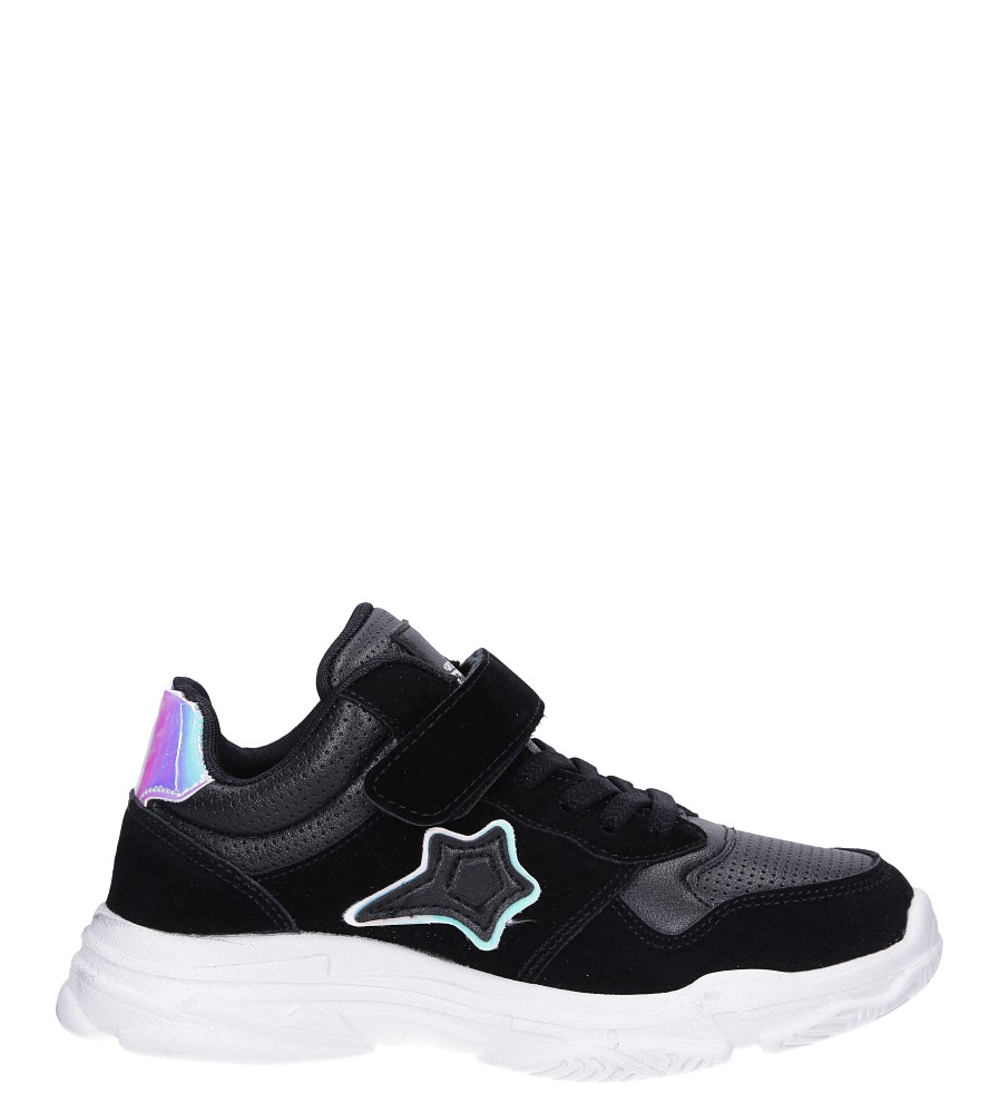 Czarne buty sportowe sznurowane Casu A70 czarny