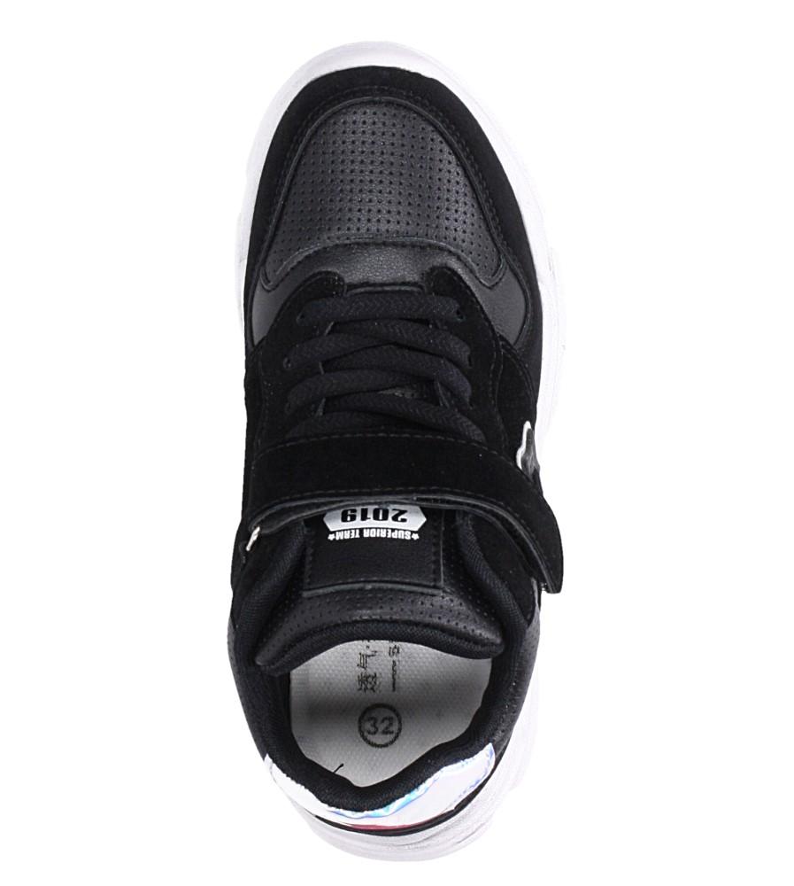 Czarne buty sportowe sznurowane Casu A70 kolor czarny