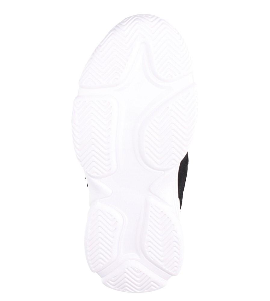 Czarne buty sportowe sznurowane Casu A70 wysokosc_obcasa 3 cm