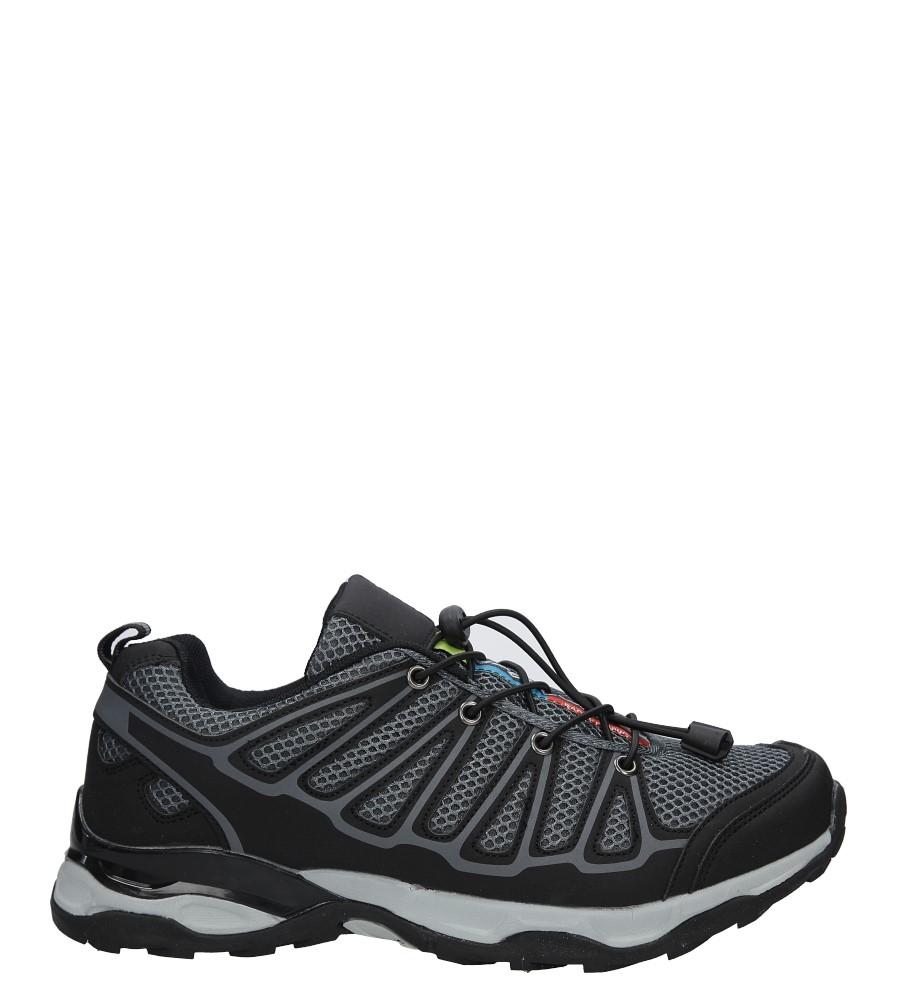 Czarne buty sportowe sznurowane Casu A8702-5