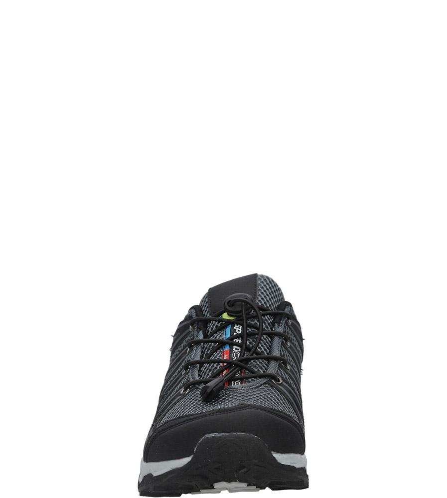 Czarne buty sportowe sznurowane Casu A8702-5 sezon Całoroczny