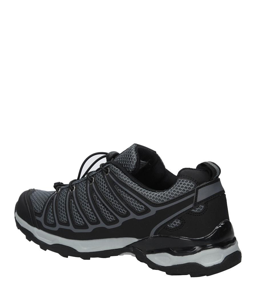 Czarne buty sportowe sznurowane Casu A8702-5 kolor czarny, szary