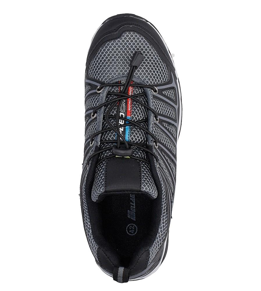 Czarne buty sportowe sznurowane Casu A8702-5 wysokosc_platformy 2 cm