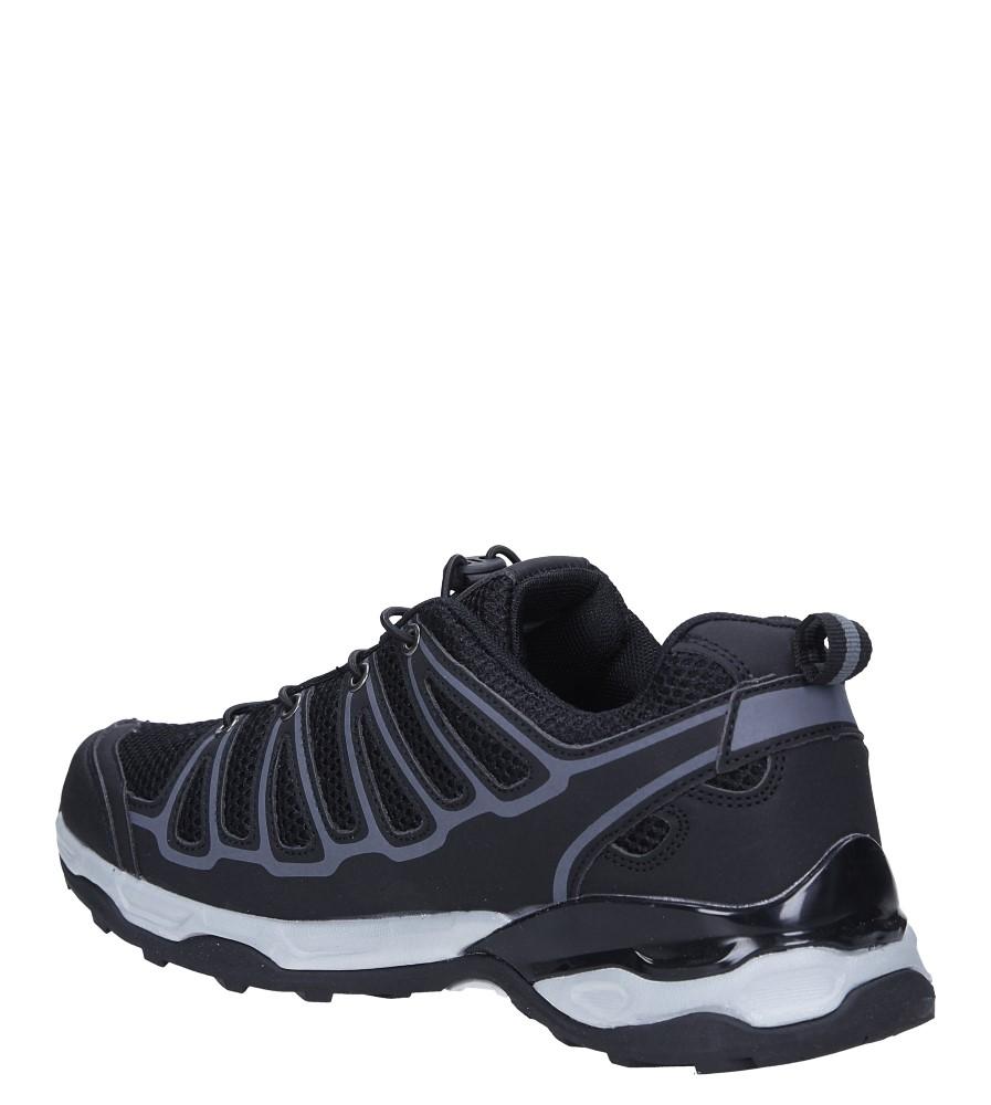 Czarne buty sportowe sznurowane Casu A8702-6 sezon Całoroczny