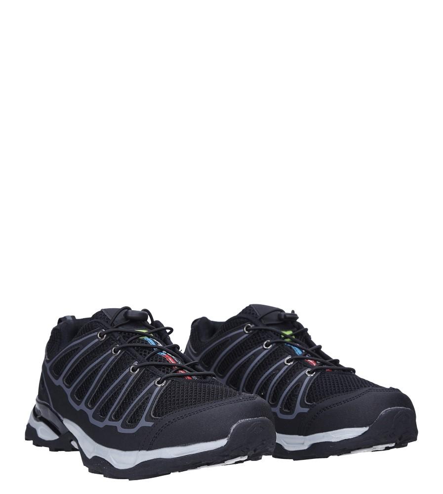 Czarne buty sportowe sznurowane Casu A8702-6 kolor czarny