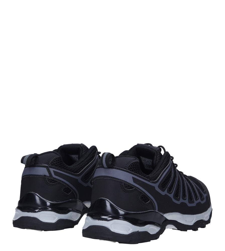 Czarne buty sportowe sznurowane Casu A8702-6 wysokosc_platformy 2 cm
