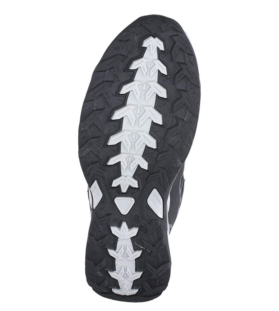 Czarne buty sportowe sznurowane Casu A8702-6 wierzch materiał/skóra ekologiczna