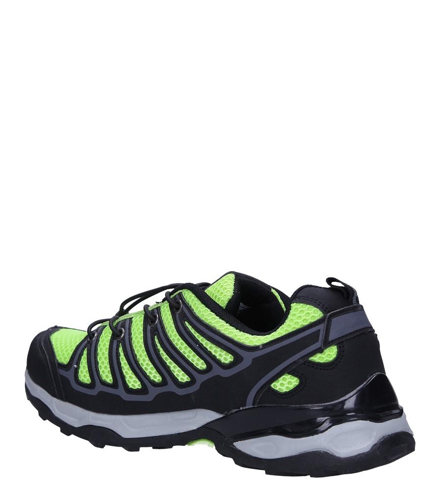 Czarne buty sportowe sznurowane Casu A8702 sezon Całoroczny