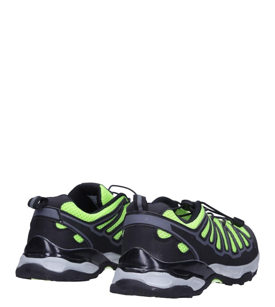 Czarne buty sportowe sznurowane Casu A8702 wysokosc_platformy 2 cm