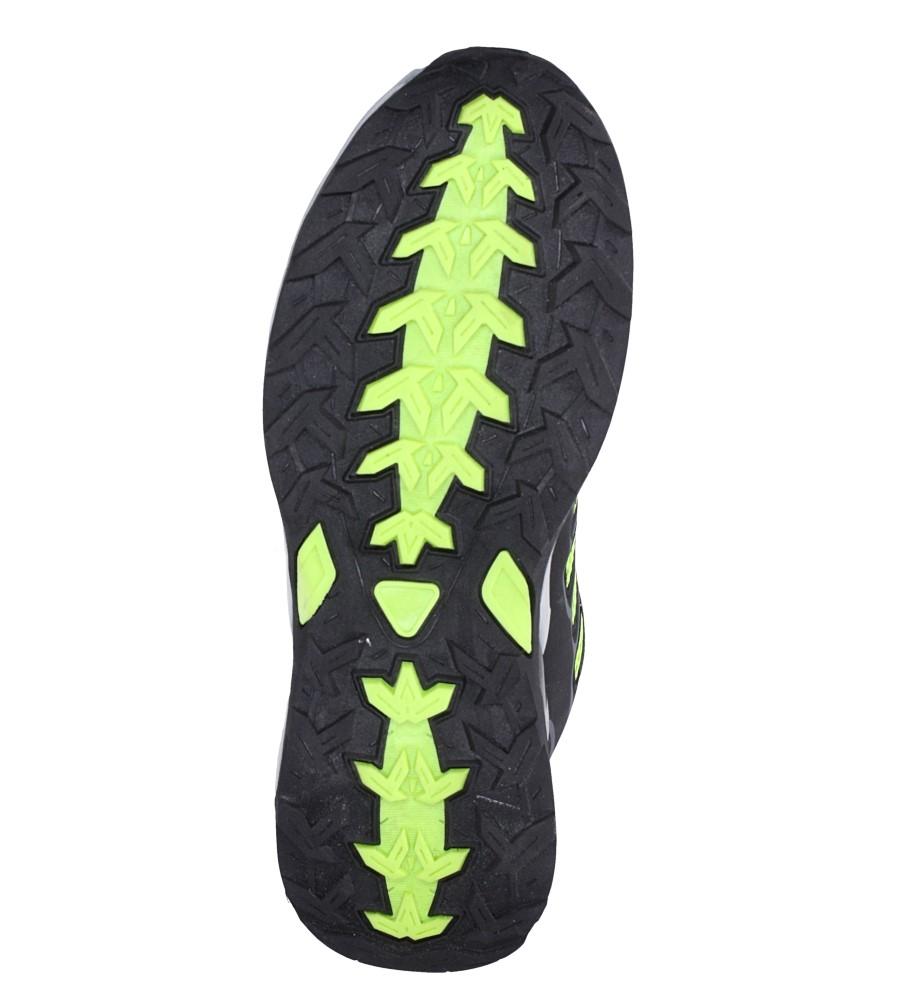 Czarne buty sportowe sznurowane Casu A8702 wierzch materiał/skóra ekologiczna