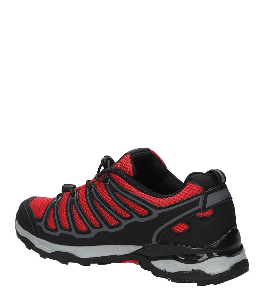 Czarne buty sportowe sznurowane Casu A8702-7 kolor czarny, czerwony