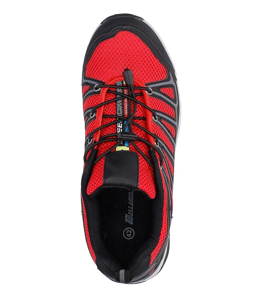 Czarne buty sportowe sznurowane Casu A8702-7 wysokosc_platformy 2 cm