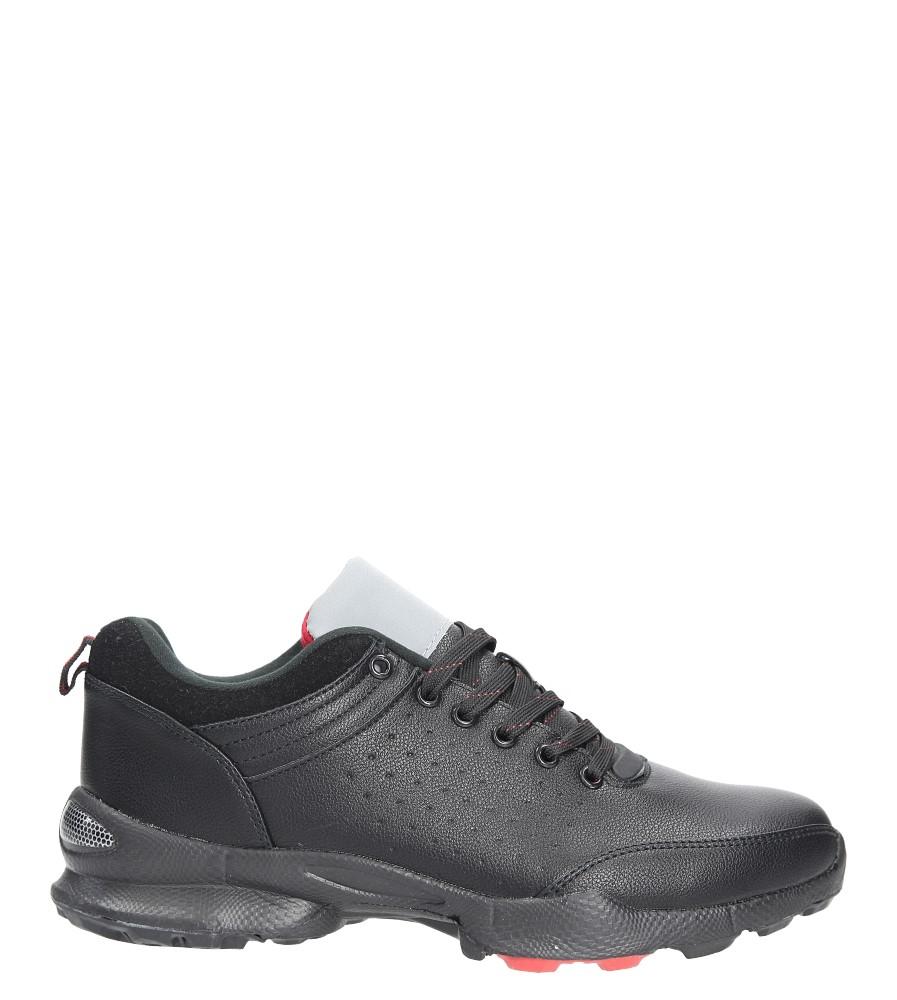 Czarne buty sportowe sznurowane Casu A8727