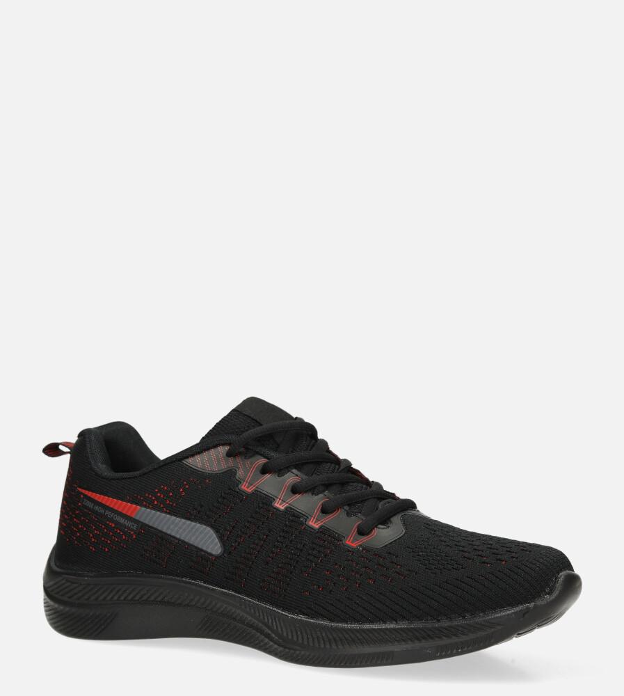 Czarne buty sportowe sznurowane Casu A98-2 czarny