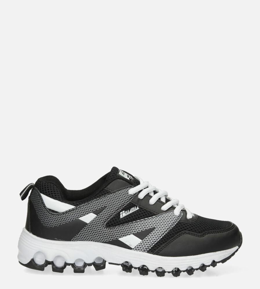 Czarne buty sportowe sznurowane Casu B2033-10 czarny