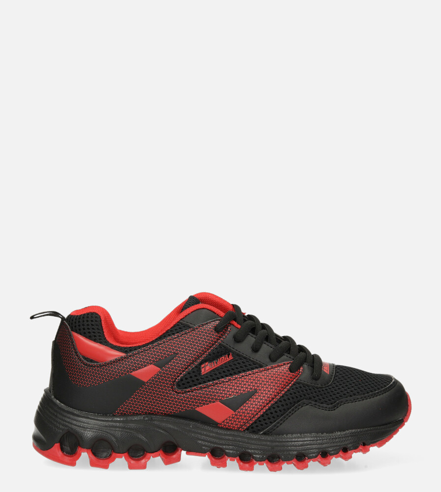 Czarne buty sportowe sznurowane Casu B2033-15 czarny