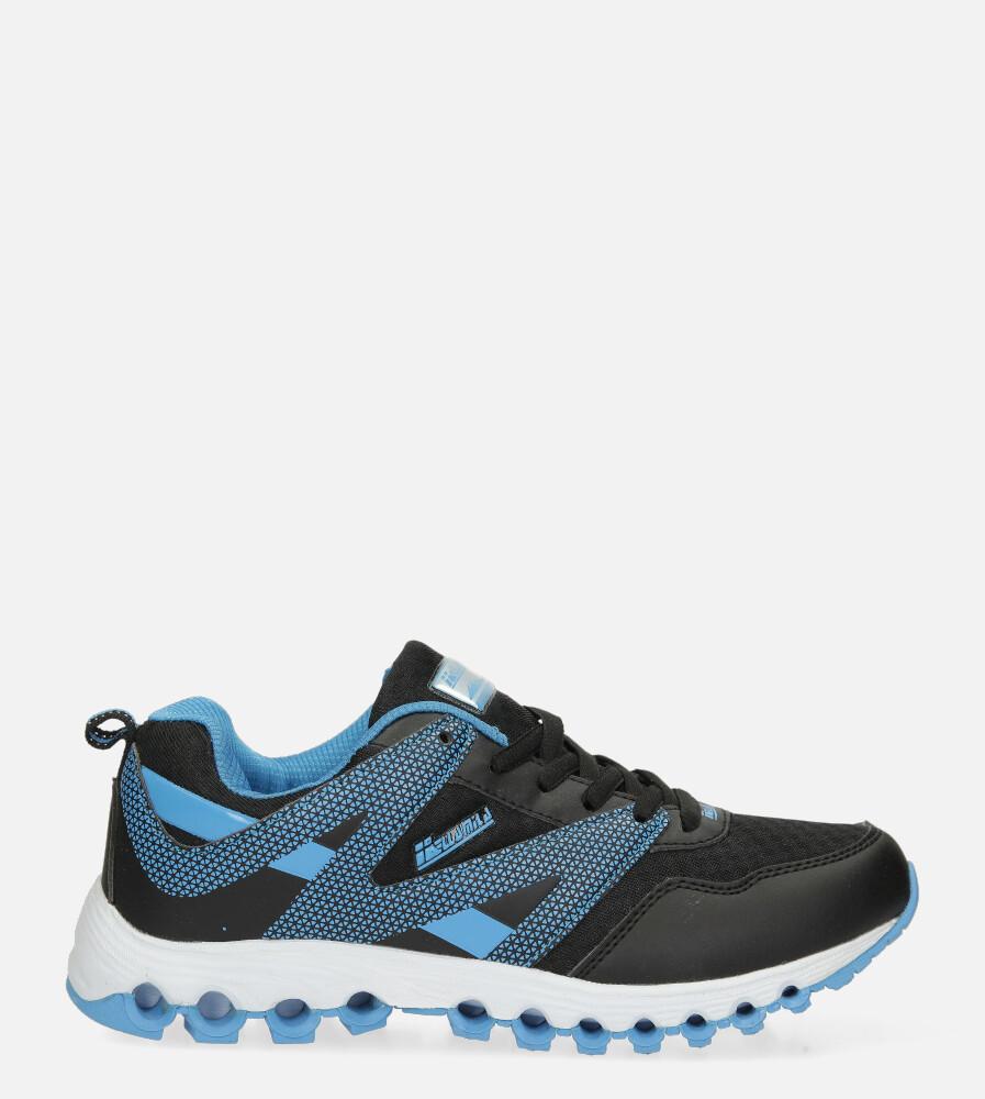Czarne buty sportowe sznurowane Casu B2033-2 czarny