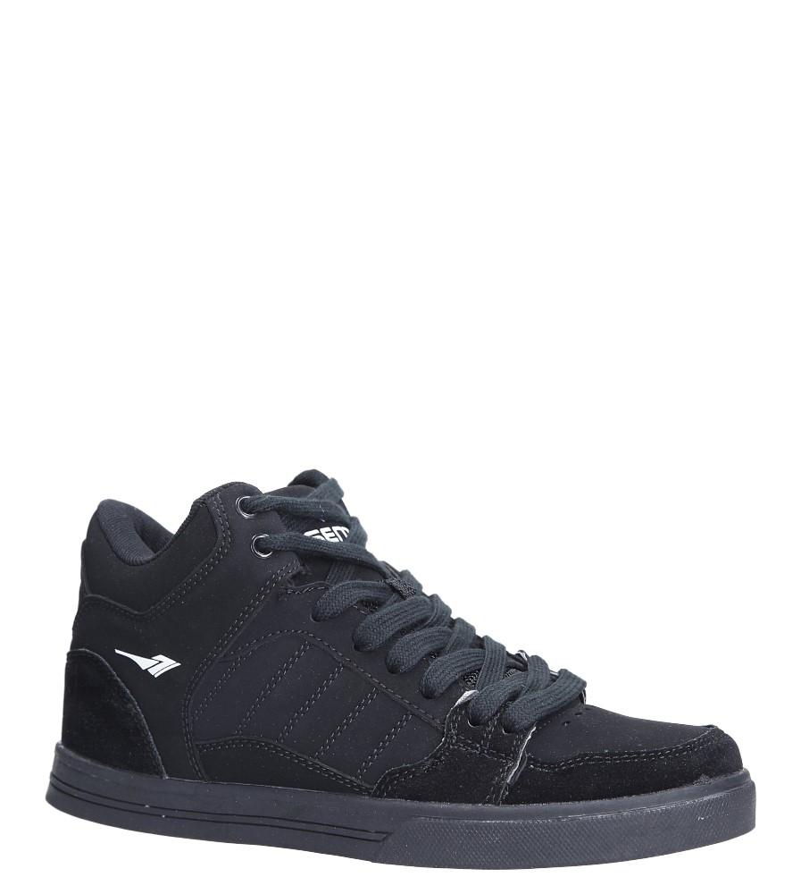 Czarne buty sportowe sznurowane Casu B2278-1 czarny