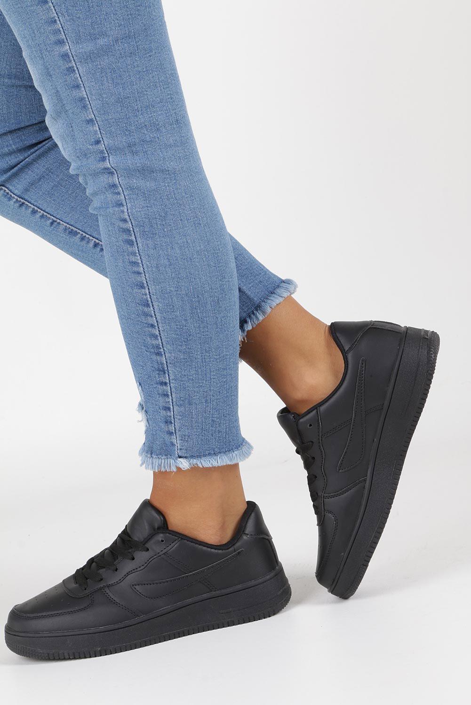 Czarne buty sportowe sznurowane Casu B5236-1