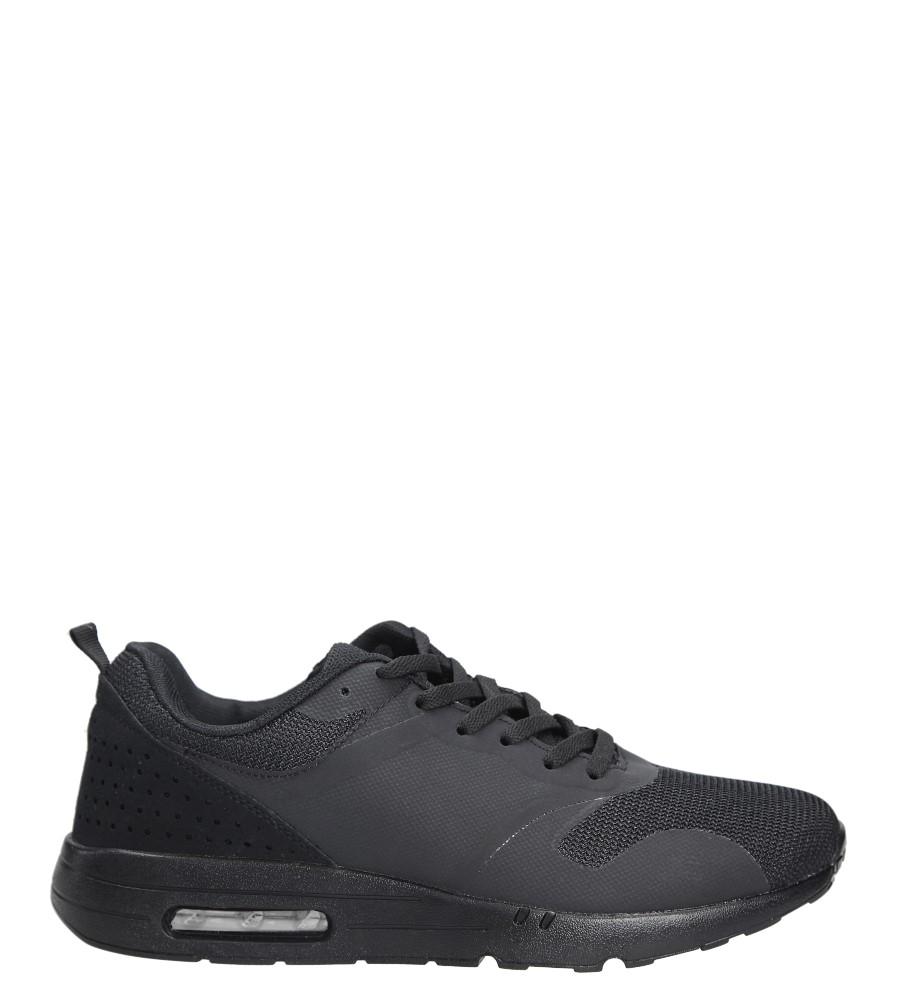 Czarne buty sportowe sznurowane Casu B6031-1