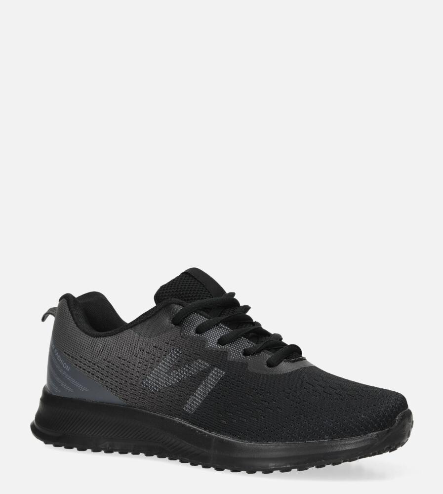 Czarne buty sportowe sznurowane Casu B97-2 czarny