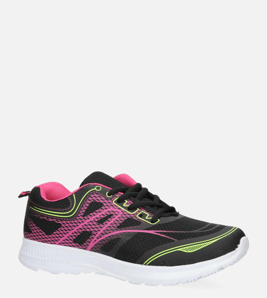 Czarne buty sportowe sznurowane Casu C-20231-1 czarny