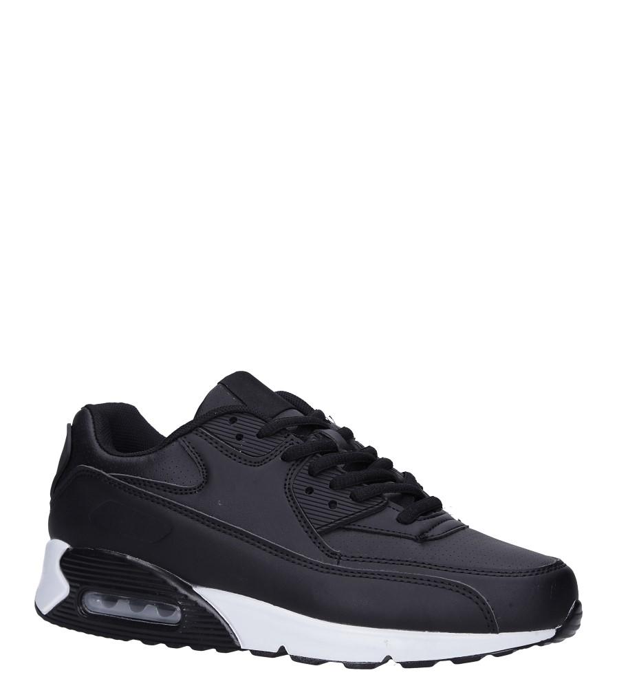 Czarne buty sportowe sznurowane Casu C66 czarny