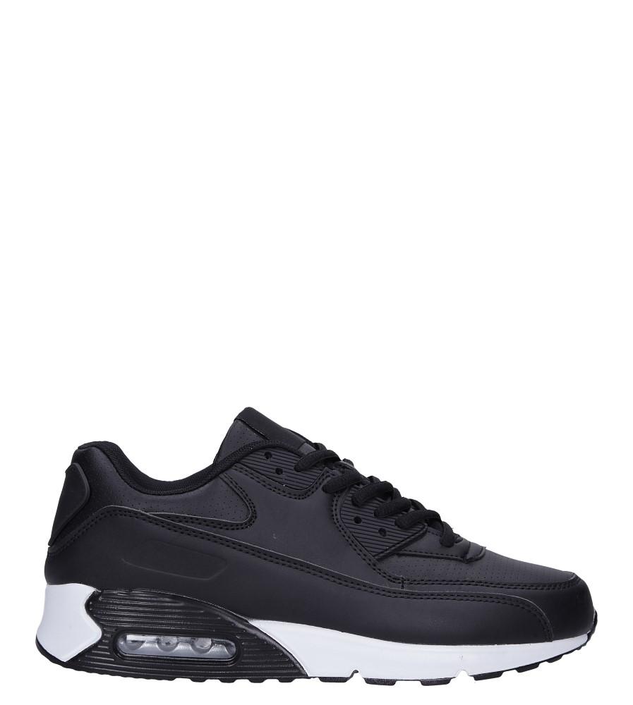 Czarne buty sportowe sznurowane Casu C66