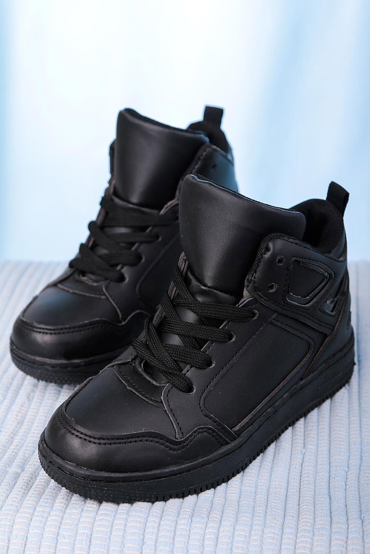 Czarne buty sportowe sznurowane Casu C917 producent Casu