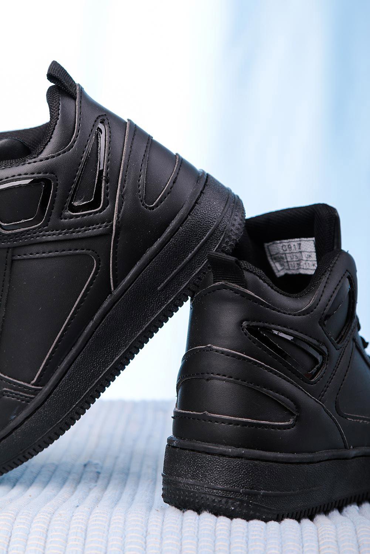 Czarne buty sportowe sznurowane Casu C917 sezon Całoroczny