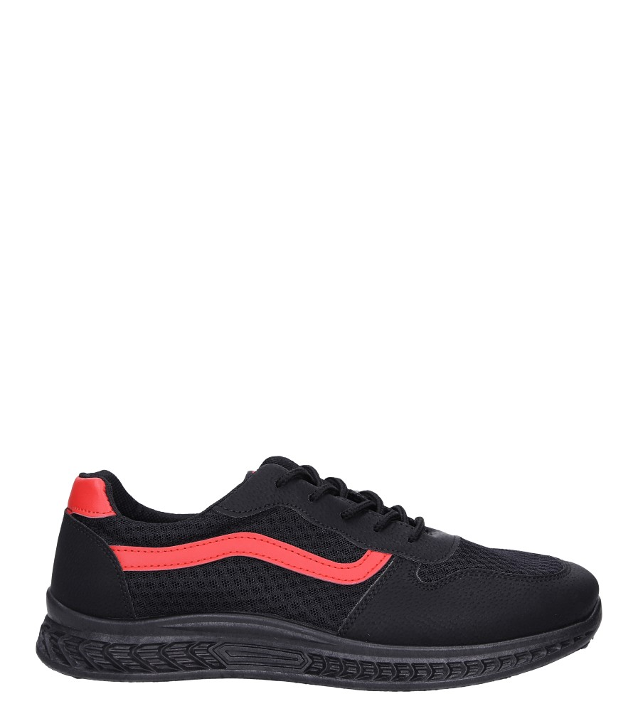 Czarne buty sportowe sznurowane Casu CH01 model CH01