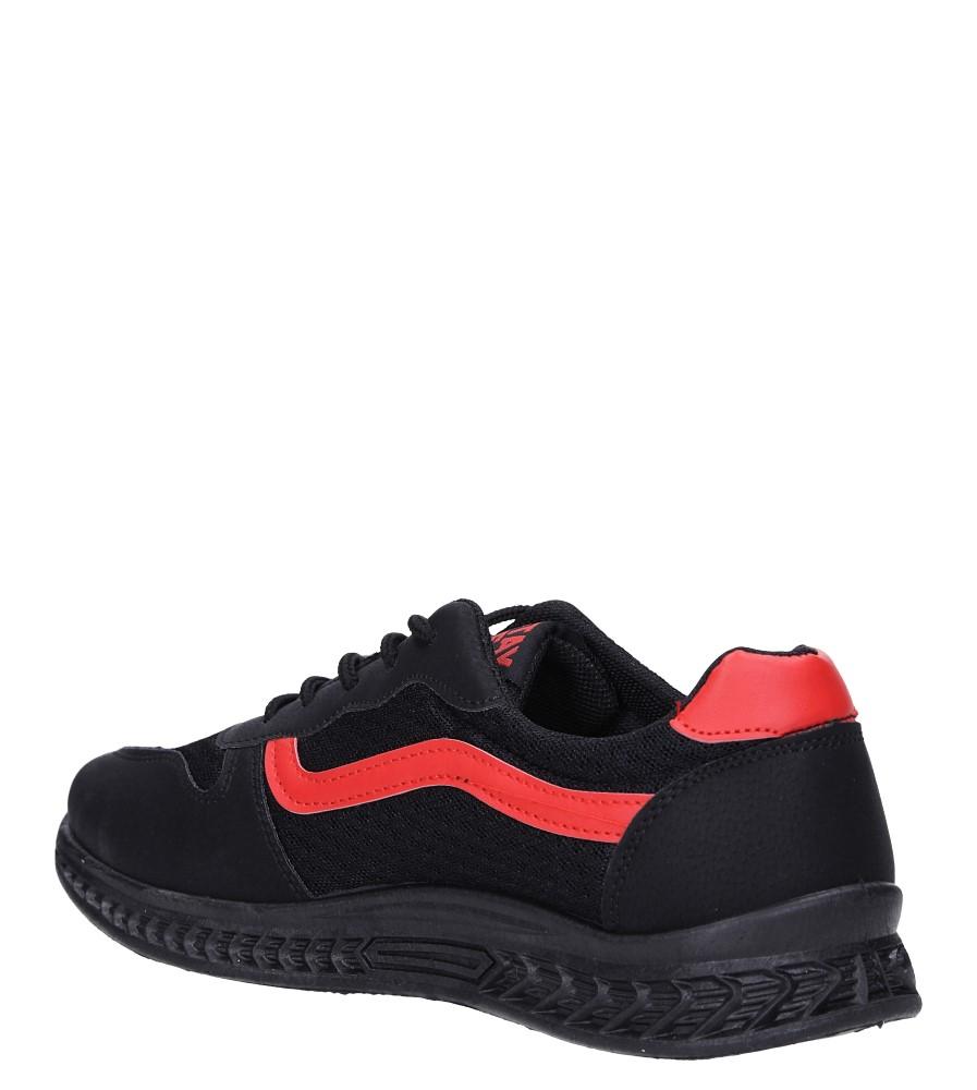 Czarne buty sportowe sznurowane Casu CH01 sezon Całoroczny