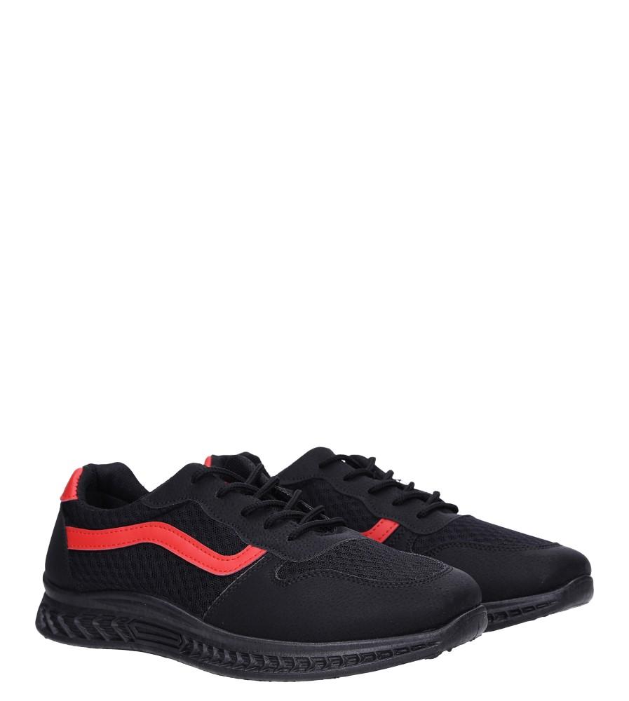 Czarne buty sportowe sznurowane Casu CH01 kolor czarny